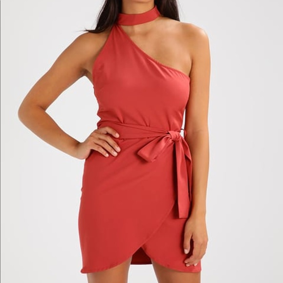 20ed908e3e5 Missguided One Shoulder Choker Mini Dress
